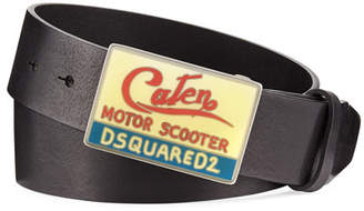 DSQUARED2 Motor Scooter Leather Belt