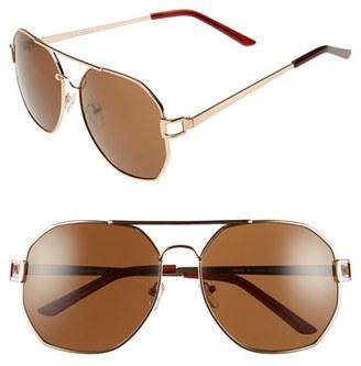 A.J. Morgan 'Thornton' 60mm Sunglasses $24 thestylecure.com