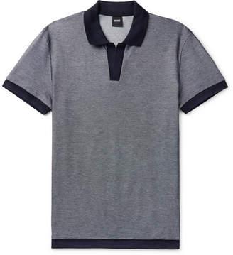 HUGO BOSS Cotton Polo Shirt - Navy