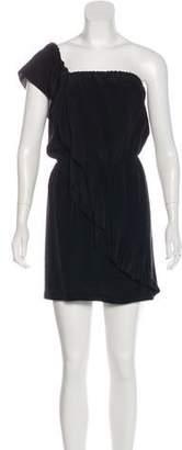 Mason Silk One-Shoulder Dress