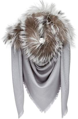 Fendi fur trim scarf