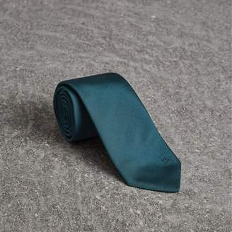 Burberry Modern Cut Check Detail Silk Tie
