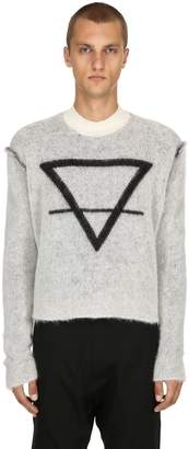Isabel Benenato Earth Mohair & Alpaca Cropped Sweater