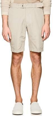 Officine Generale Men's Julian Slub Cotton-Linen Belted Shorts