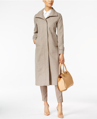Jones New York Stand-Collar Wool Maxi Coat $400 thestylecure.com