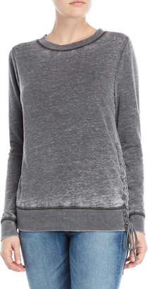 Olivia Sky Burnout Side Lace-Up Pullover