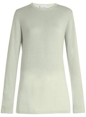 Raey Long Line Fine Knit Cashmere Sweater - Womens - Mint