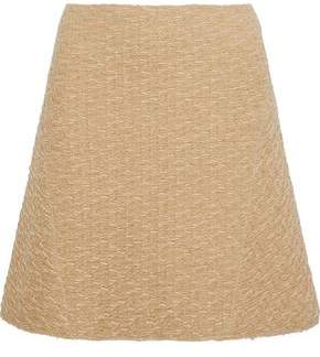 Nina Ricci Flared Wool-Blend Cloqué Skirt
