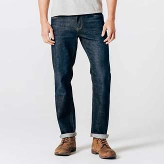 DSTLD Mens Straight Jeans in Six-Month Dark Worn