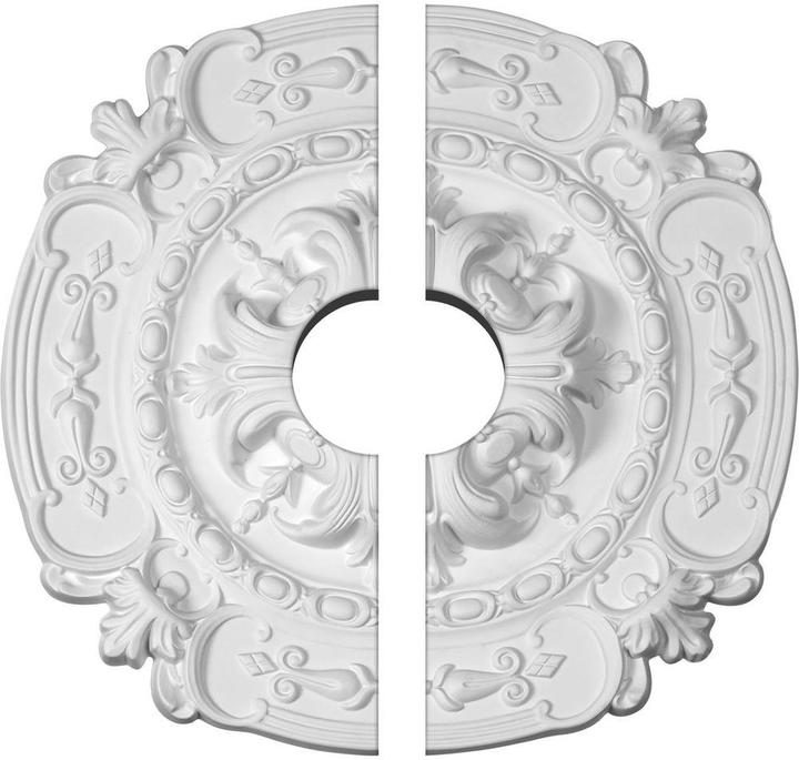 Ekena Millwork 16-3/8 in. O.D. x 3-1/2 in. I.D. x 1-3/4 in. P Southampton Ceiling Medallion (2-Piece)