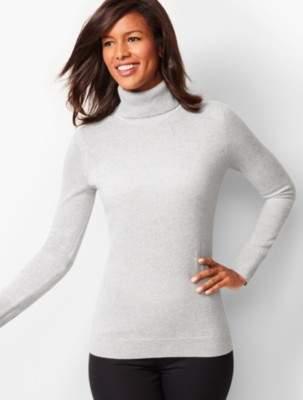 Talbots Cashmere Turtleneck Sweater - Shimmer
