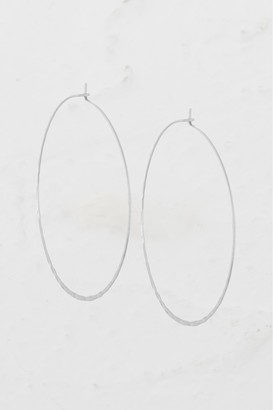 French Connenction Large Hammered Hoop Earrings