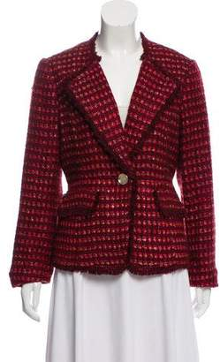 Tory Burch Bouclé Shawl-Collar Jacket