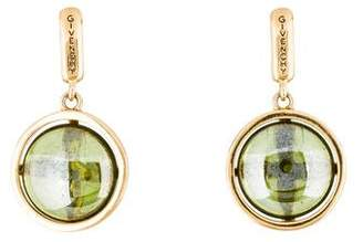 Givenchy Glass Drop Clip-On Earrings