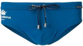 Dolce & Gabbana logo swimming briefs