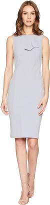 Calvin Klein Striped Sheath with Twist Knot Detail at Bodice CD8E11LF Women's Dress