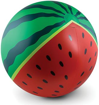Watermelon Inflatable Beach Ball in Red/Green