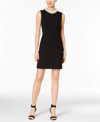 Betsey Johnson Embellished Sheath Dress $158 thestylecure.com