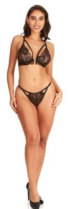 Cosmostyle By Cosmoplitan Women's Strappy and Lacey Front Closure Bra Set