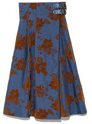 Lily Brown (リリー ブラウン) - Lily Brown フラワーフロッキーラップスカート リリーブラウン スカート