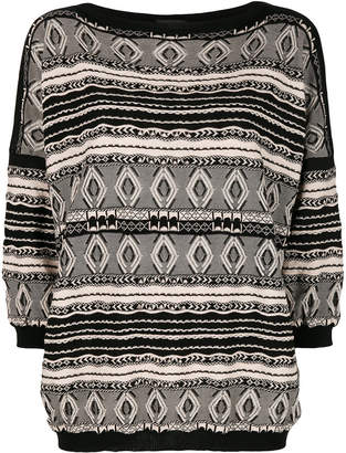 Roberto Collina patterned knit jumper