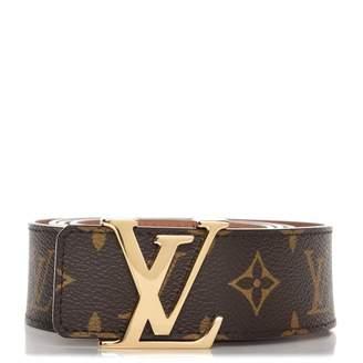 Louis Vuitton Belt Initiales Monogram Brown/Brass