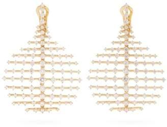 Fernando Jorge - Diamond & Yellow Gold Disco Earrings - Womens - Gold
