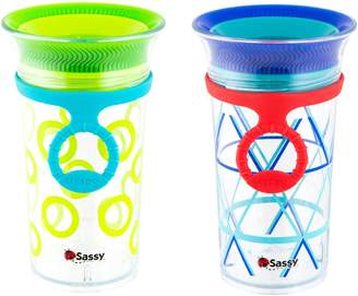 Sassy Tritan Cup with Strap 2 Pack, 9oz
