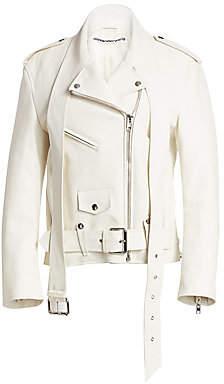 Alexander Wang Women's Martingale Leather Moto Jacket