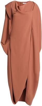Chalayan Asymmetric Draped Cady Midi Dress
