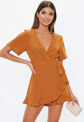 Missguided Wrap Over Playsuit