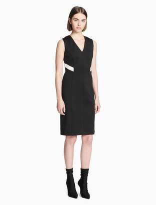 Calvin Klein colorblock v-neck sleeveless dress
