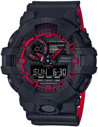 Casio G Shock Duo Side Edge GA700SE-1A4 Black & Red Watch