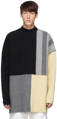 Jil Sander Multicolor Colorblock Panelled Sweater