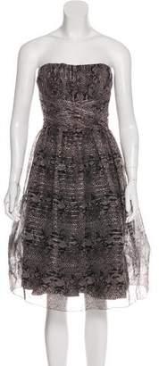Anna Sui Printed Strapless Dress