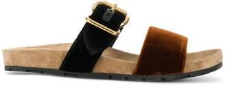Prada velvet slider sandals