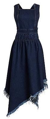 Marques Almeida Marques'Almeida Marques'Almeida Women's Denim A-Line Apron Handkerchief Dress