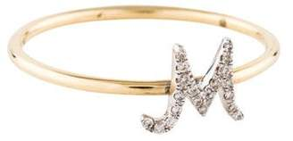 Sydney Evan 14K Diamond Initial 'M' Ring
