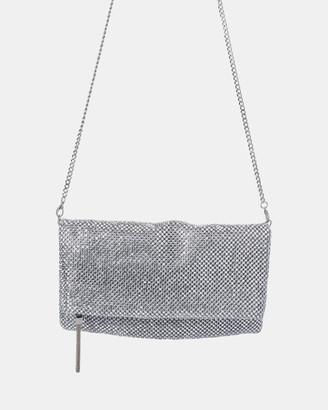 Olga Berg Nicole Crystal Mesh Shoulder Bag
