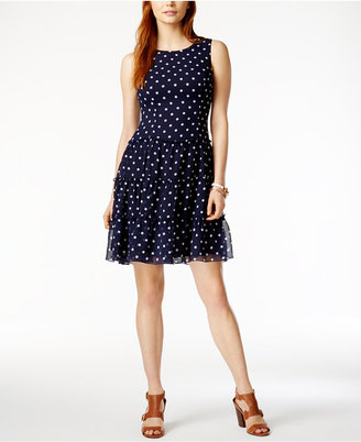 Tommy Hilfiger Polka-Dot Fit & Flare Dress, Only at Macy's $129.50 thestylecure.com