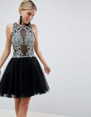 Jovani Embellished Mini Prom Dress