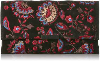 Loeffler Randall Tab Clutch (Embroidered Suede)