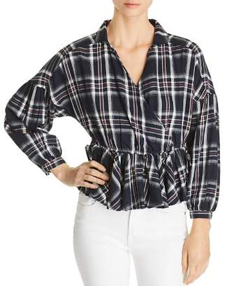 Vero Moda Ketch Plaid Cotton Top