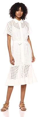 Milly Women's Illusion Check Haley Dress