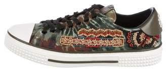 Valentino Tie Dye Beaded Sneakers