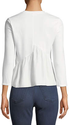 Rebecca Taylor French Terry Silk-Hem Sweatshirt