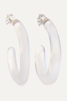 Leigh Miller - Net Sustain Opaline Glass Hoop Earrings - Light blue