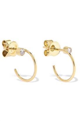 Sophie Bille Brahe Simonetta 18-karat Gold Diamond Hoop Earrings
