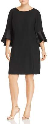 Adrianna Papell Plus Bell-Sleeve Dress