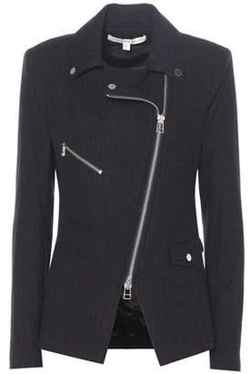 Veronica Beard Lounge Moto Pinstripe wool blazer